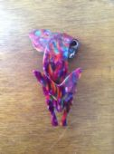 Fox Brooch signed Lea Stein, Paris - Fabulous Multi Coloured Tones (SOLD)